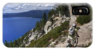 Riding The Flume Trail IPhone Case