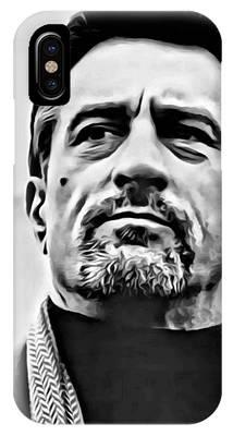 IPhone Case featuring the painting Robert De Niro Portrait by Florian Rodarte