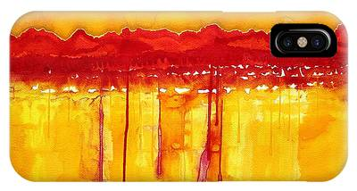 Rocky Mountains Original Painting IPhone Case