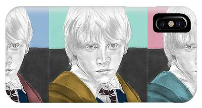 Ron Weasley - 3up One Print  Phone Case by Alexander Gilbert