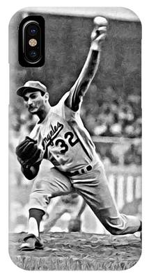 Sandy Koufax Throwing The Ball IPhone Case