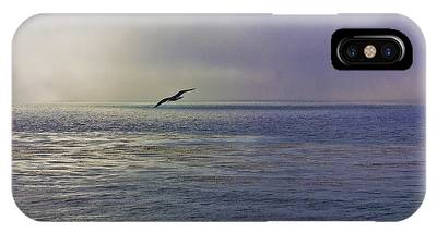 IPhone Case featuring the photograph Sea Gull's Twilight Flight by Richard J Thompson