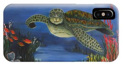 Sea Turtle In Paradise IPhone Case