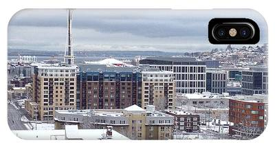 Seattle Space Needle In Snow IPhone Case
