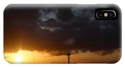 Seattle Space Needle Sunset IPhone Case