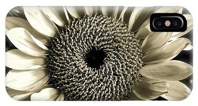 Sepia Sunflower IPhone Case