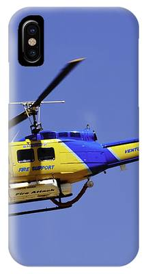 Sheriff's Fire Support Helicopter IPhone Case by Richard J Thompson