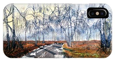Silver Birch On Skipwith Common IPhone Case