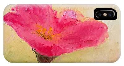 One Single Pink Poppy Flower Phone Cases