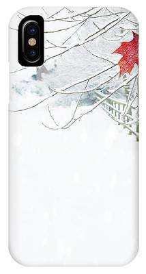 Red Leaves Snow Phone Cases