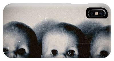 IPhone Case featuring the photograph Spooky Doll Heads by Patricia Strand