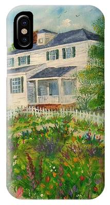 Spring In Colonial Williamsburg- Cole House IPhone Case