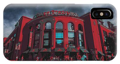 St. Louis Busch Stadium Cardinals 9162 Art IPhone Case