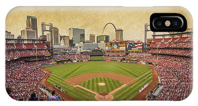 St. Louis Cardinals Busch Stadium Texture 9252 IPhone Case