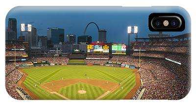 St. Louis Cardinals Busch Stadium Pano 5 IPhone Case