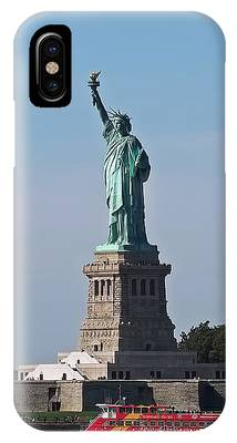 IPhone Case featuring the photograph Statue Of Liberty by Rona Black