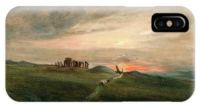 Stonehenge At Sunset, After John Constable Phone Case by Litz Collection