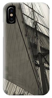 Suare And Triangle Black And White Sepia IPhone Case