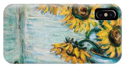 Sunflowers And Frog IPhone Case