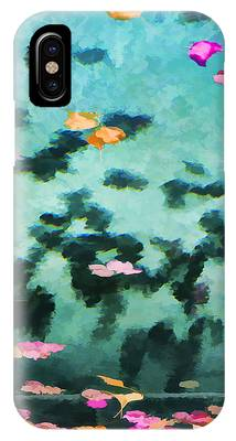 Swirling Leaves And Petals 2 IPhone Case