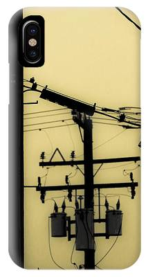 Telephone Pole And Sneakers 5 IPhone Case