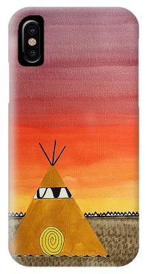 Tepee Or Not Tepee Original Painting IPhone Case