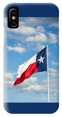 Texas State Flag Waving IPhone Case