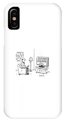 Text On The Tv: English People With Servants IPhone Case