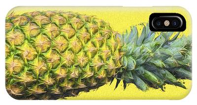 The Digitally Painted Pineapple Sideways IPhone Case