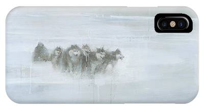 Winter Storm Paintings iPhone Cases