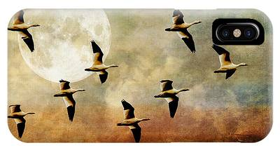 The Flight Of The Snow Geese IPhone Case