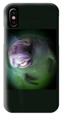 The Happy Manatee IPhone Case