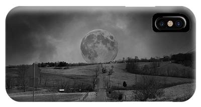Moonscape Digital Art iPhone Cases