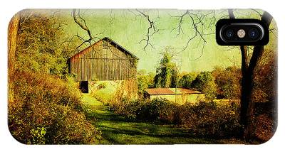 The Old Barn With Texture IPhone Case