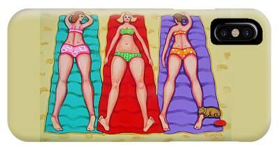 Fat Women On Beach Phone Cases