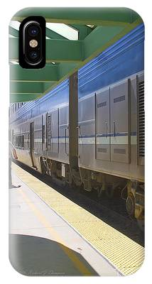 IPhone Case featuring the photograph Train Stopped At Station by Richard J Thompson