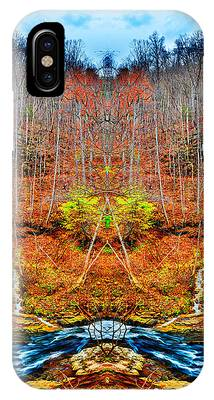 IPhone Case featuring the photograph Two Converging Water Falls by Dennis Dame
