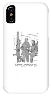 Two Women Converse At A Cocktail Party IPhone Case