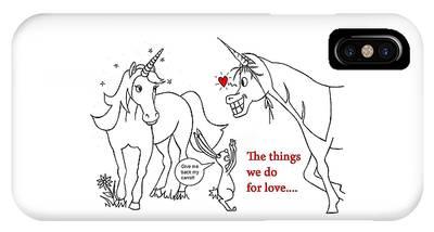 Unicorn Valentines Card IPhone Case