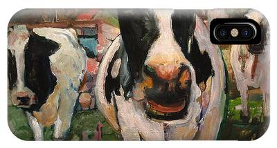 Up Front Cows IPhone Case