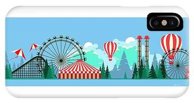 Carousel Digital Art iPhone Cases