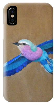 Violet-breasted Roller Bird II IPhone Case by Lynn Quinn