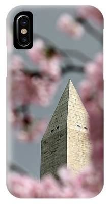 Washington Monument With Cherry Blossoms IPhone Case