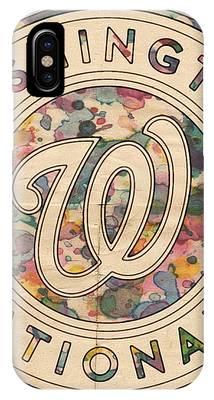 Washington Nationals Vintage Art IPhone Case by Florian Rodarte