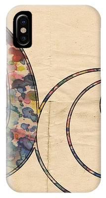 Washington Wizards Logo Vintage IPhone Case by Florian Rodarte