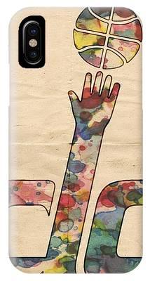 Washington Wizards Retro Poster IPhone Case by Florian Rodarte
