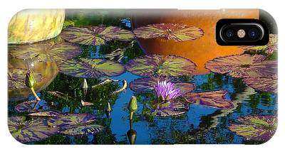 Waterlily Reflections IPhone Case