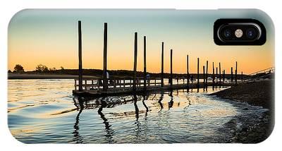 Wavy Sunset Kings Park New York IPhone Case