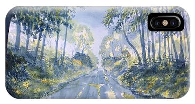 Wet Road In Woldgate IPhone Case