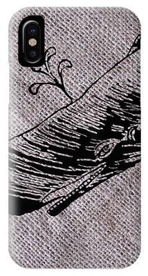 Whale On Burlap IPhone Case